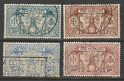 New Hebrides 1925 Weapons And Idols Dual Currency Range To 6D Used