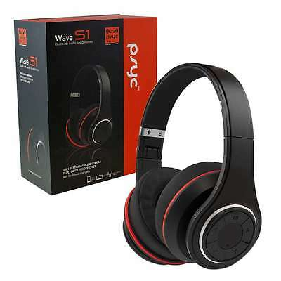 PSYC Wave S1 Bluetooth Wireless Over-ear Headphones/Headset Built-in Microphone