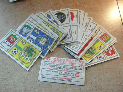 original FOOTBALL STICKERS PANINI FOOT 77 1977 FRANCE ECUSSONS  Voir liste