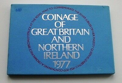 Royal Mint 1977 Proof Coinage Of Great Britain & Northern Ireland 7 Coin Set