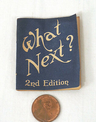 Antique Dennison Manufacturing Co Advertising Paper What Next? Handy Book c.1920