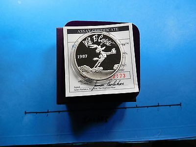 Wile Coyote Road Runner Warner Looney Tunes Vintage 999 Silver Coin Box Coa #3