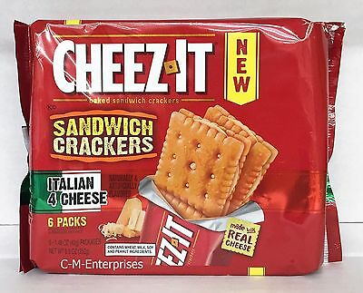 Cheez It Italian 4 Cheese Baked Sandwich Crackers 8.9 oz Cheese