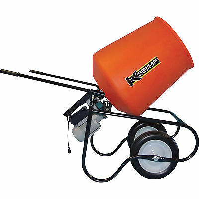 Kushlan Professional Portable Electric Direct Drive Cement Mixer- 3.5 Cubic ft
