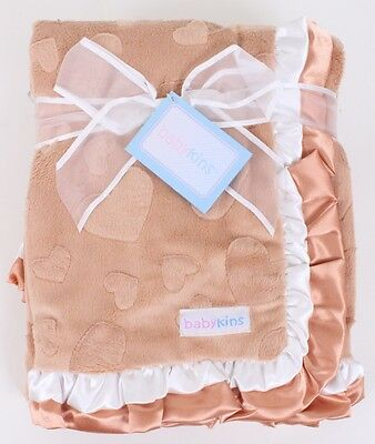 LOT 50 NEW BABYKINS CUTE DOUBLE SIDED BABY BLANKET ,MIX COLORS retails $19.89