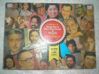 Catalogue Of Hindi Film And Ghazals On 2 4 Cassette Sets Rare Book India 1993