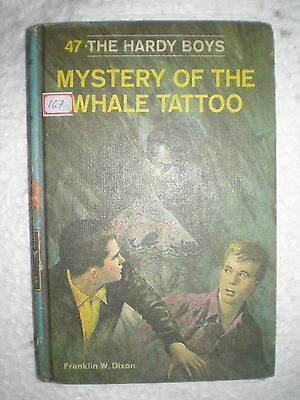 hardy boys MYSTERY OF THE WHALE TATTOO RARE BOOK 1968
