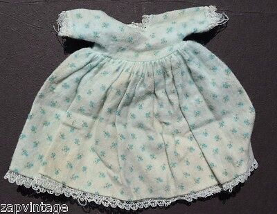 Vintage 1950's Soft Cotton Blue Flower Dress Doll Play Clothes / Clothing