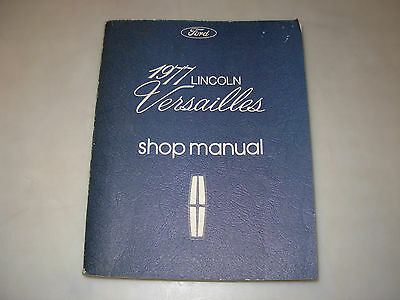 1977 Lincoln Versailles Shop Manual