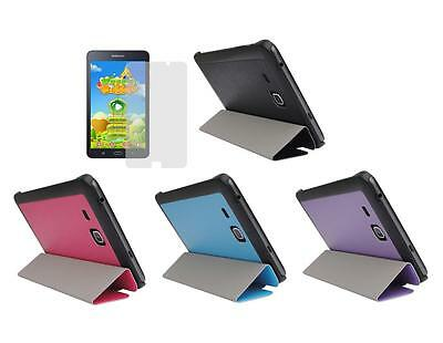"Slim Folio Cover Case + Screen Protector for Samsung Galaxy Tab A 7"" SM-T280"