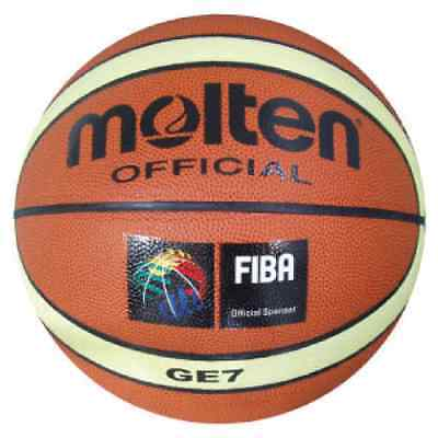 Molten Ge Basketball - Size 6 Or Size 7 - 12 Panel Synthetic Ball - Pvc Leather