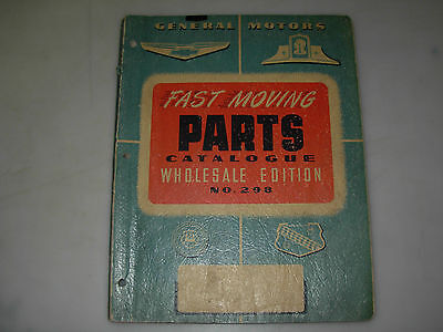 General Motors Fast Moving Parts Catalog No. 298 Wholesale Edition - issued 1949