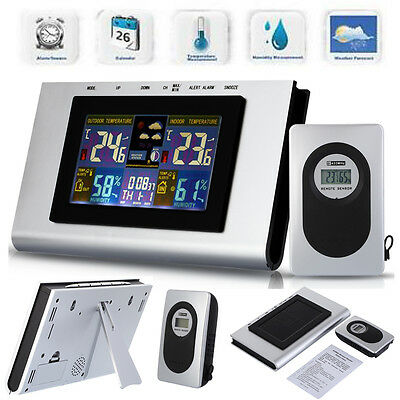 Wireless Weather Station Temperature Humidity Barometer Thermometer Alarm Clock