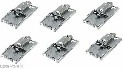 6 x  Self Set Metal Mouse Rodent Pest Mice Traps - Easy Set Strong Trap tvs60