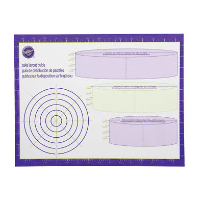 Wilton # 2546 Decorator Work Mat Cake Layout Guide Fondant Gum Paste Decorations