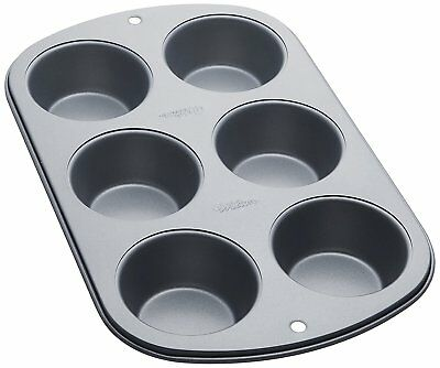 Wilton 6 Cups Recipe Right Muffin Baking Pan Non Stick Bakeware Tin Tray