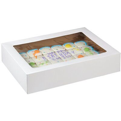 Wilton 2 Pk CORRUGATED Window 19X 14 X 4 Inch Cakes Cupcakes Muffins Party Box