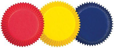 """Wilton STANDARD Red Yellow Blue Primary Cup Cakes Muffins Baking Cases 2 """""""