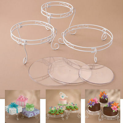 Wilton 15 Pc White Cake Cup Cakes Party Food Treats Display Tray Set Table Ware