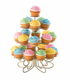 Wilton 24 Holders Mini CUPCAKES-N-MORE DESSERT Stand Cakes Party Display