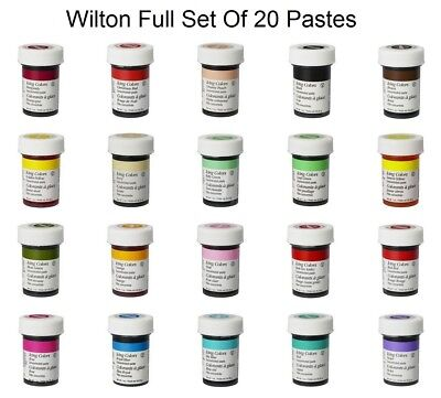 Wilton FULL SET Icing Colour Color Paste Gel Sugarcraft Food Cake Colouring - 20