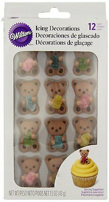 Wilton Royal Icing Decoration Bear Gum Drop Party Cake Cupcake Decorating Topper