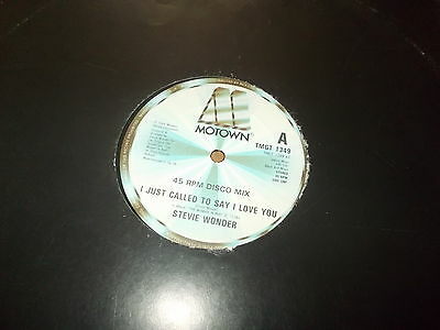 "Stevie Wonder-I just called to say I love you-1984 12"" single"