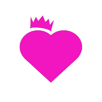 Heart Crown Sticker Love Princess Queen Decal for Car Window Bumper Laptop Door