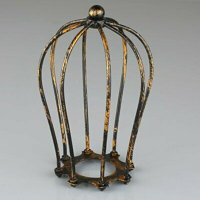 1PC Antique Brass Iron Wire Bulb Cage Lamp Guard Shade Vintage Trouble Light