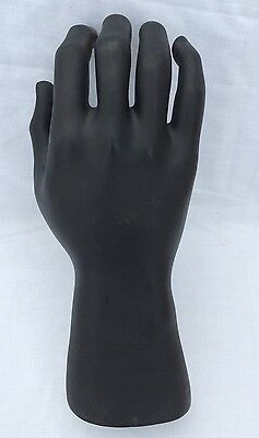 Vintage Black Plastic Male Mannequin Wrist & Hand for Jewelry Display RPM Ind.