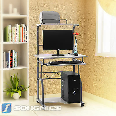 Songmics Computer Desk Study Table Portable Trolley Home Workstation LCD818W