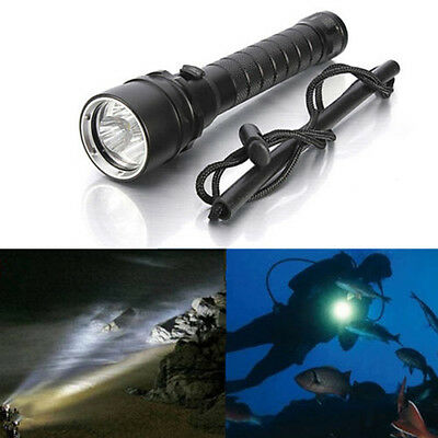 3X XM-L2 T6 LED 6000LM Flashlight Diving Scuba Underwater 100m Torch Waterproof