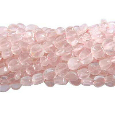 Strand Of 52+ Rose Quartz Approx 5-6mm Handcut Coin Beads DW1380