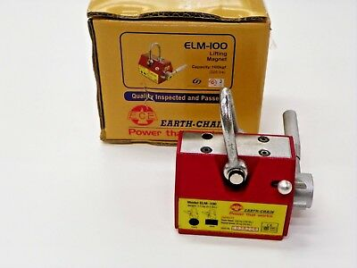 Earth Chain Elm-100 Lifting Magnet Rated 220 Lbs   Y681