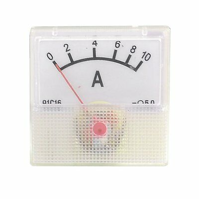 1Pcs Plastic Housing DC 10A Scale Analog Pointer Ampere Panel Meter 91C16