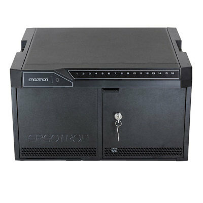 Ergotron 24-333-085 16 Tablets Management Desktop Module with ISI - Cabinet Unit