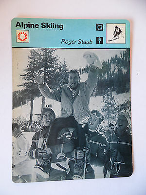 Sportscaster Rencontre Card - Alpine Skiing - Roger Staub