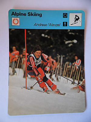 Sportscaster Rencontre Card - Alpine Skiing - Andreas Wenzel