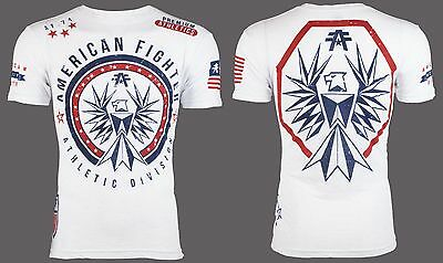 AMERICAN FIGHTER Men T-Shirt SOMERSET Eagle WHITE Athletic Biker Gym MMA UFC $40
