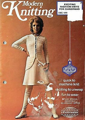 Modern Knitting Dec 70 Facsimile: 18 Knitmaster Patterns/ Listed Machine Knits