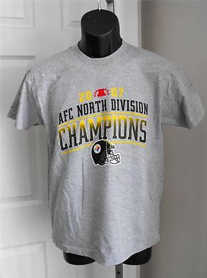 NEW-Minor-Flaw Pittsburgh Steelers AFC CHAMPIONS 2007 Youth Sizes L-XL Shirt d101edaab