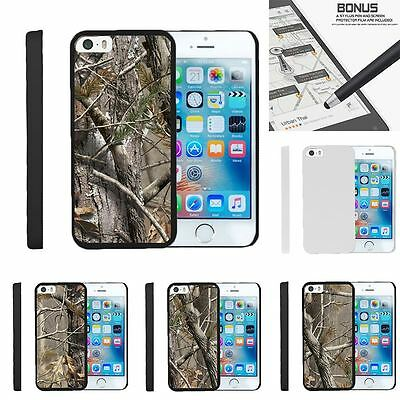 For iPhone SE| iPhone 5| iPhone 5s| Slim Fit Hard 2 Piece Case Tree Bark Camo