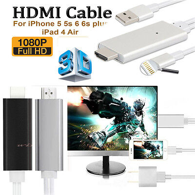 8 Pin Dock Lightning to HDMI HDTV AV Cable Adapter for Apple iPhone 6 6s 5s iPad
