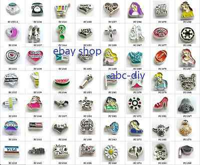 new!10pcs Mix Style Floating Charms For Glass Living Memory Locket Free shipping