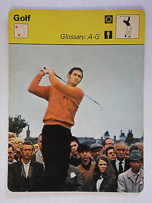Sportscaster Rencontre Card - Golf - Glossary: A-G