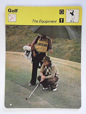 Sportscaster Rencontre Card - Golf - The Equipment