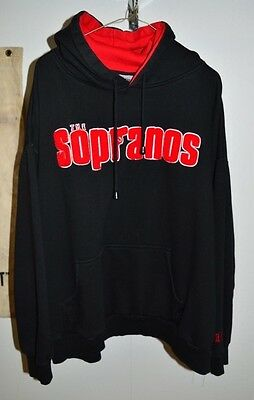 Rare HBO EXCLUSIVE The Sopranos Hooded Raised Letter (XXL) Sweatshirt Preowned