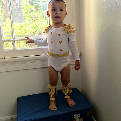 Handmade Newborn Baby & Toddler Boy Prince Charming King Uniform Outfit!