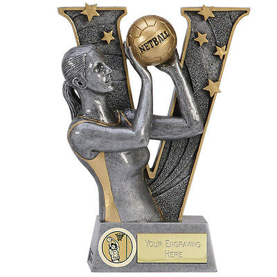 Netball Shooter Attack Range Ball Defence Trophy 3 Sizes Available Engraved Free