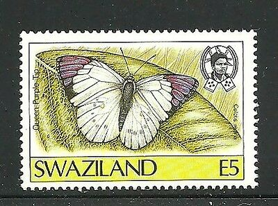 Album Treasures Swaziland  Scott # 517  5e Butterfly Queen Purple Lip MH